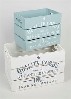 Set Of 2 Weathered Boxes