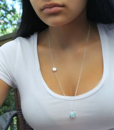 Long Initial NecklaceFine 925 sterling silver by potionumber9, $44.00