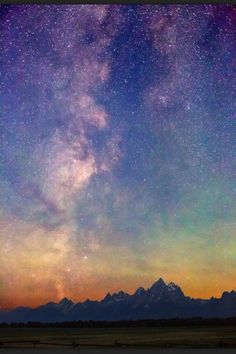 Milky Way over the Grand Tetons