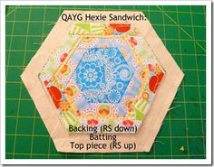 QAYG Hexie tutorial - this could work with squares and rectangles too.