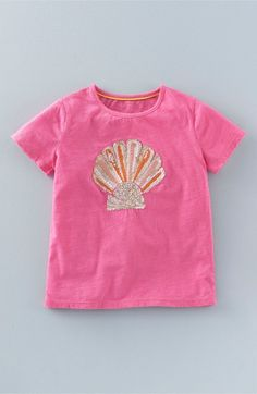 Mini Boden Sequin Tee (Toddler Girls, Little Girls & Big Girls)