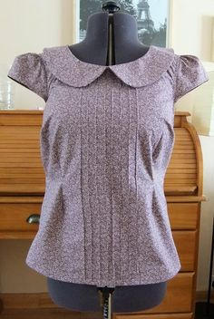 Ozzy Blackbeard: Pin-tuck Sewaholic Alma Blouse with capped sleeves, including how to create the pin tucks.
