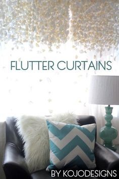Anthropologie knock-off flutter curtains – 32 Brilliant DIY Anthropologie Knockoffs.