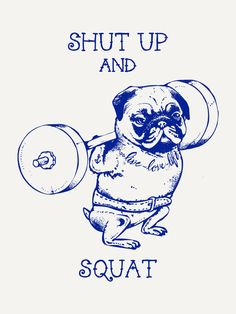 """Pug Squat"" Art Print by Chalermphol Harnchakkham on Society6."