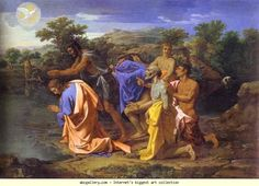 Nicolas Poussin. The Baptism of Christ.