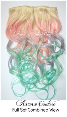 SO WANT THESE! Pastel Color Full Set 20 Long of Hair by KarmaCoutureApparel, $155.00