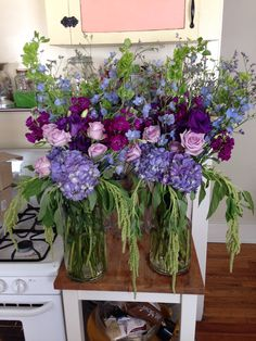 When you have a small floral business your kitchen becomes a flower shop.