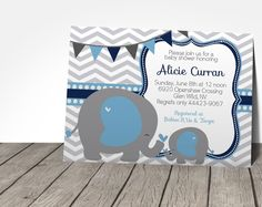 Elephant Baby Shower Invitation