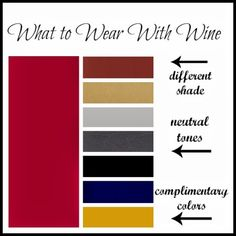 What to wear with wine Via