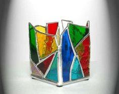 Resultado de imagen para stained glass candle holder