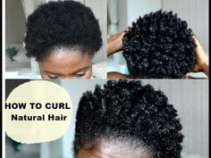 How To Curl Short Hair | 4C Easy Method - YouTube