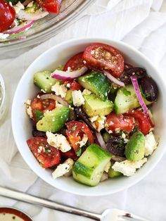 Greek Salad with Avo
