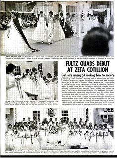 The famous Fultz Quads,  the world's first recorded set of identical black quadruplets, are presented at the Zeta Phi Beta Sorority Debutante Ball.