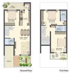 18x50 house design এর ছবির ফলাফল 2bhk House Plan, Narrow House Plans, Small House Floor Plans, Simple House Plans, Duplex House Plans, Container Home Designs, Indian Home Design, Home Building Design, Home Design Plans