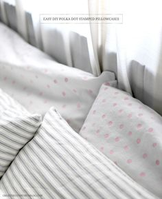 Use a pencil eraser to create polka dots on your pillowcases. | 33 DIYs For The Classiest Person You Know