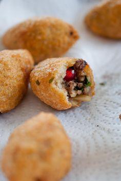 kibbeh, Middle eastern stuffed bulgur patties