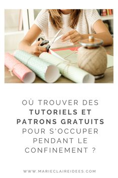 Free tutorials and patterns during confinement - To overcome boredom in this period of national confinement, many brands provide tutorials and patte - Diy Crafts For Adults, Creation Couture, Couture Sewing, Happy Life, Diy Fashion, Diy Design, Knitting, Bons Plans, Inspiration