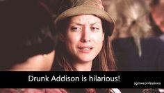 Drunk Addison | Grey's Anatomy