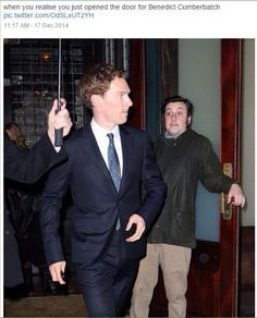 bahahaha!! I wish I could hold the door open for benedict cumberbatch