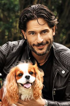Joe Manganiello - I like him even more now that I see him with the best breed in the history of EVER!!