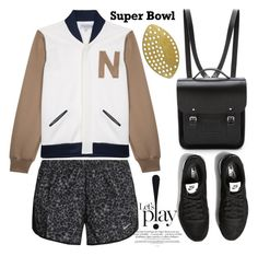 """Super Bowl"" by thestyleartisan ❤ liked on Polyvore featuring House of Nomad, The Cambridge Satchel Company, NIKE, footballfashion, superbowl and Superbowl50"