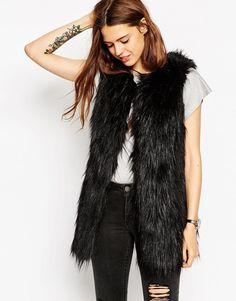 ASOS COLLECTION ASOS Sleeveless Faux Fur Coat