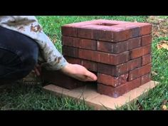 DIY Brick Rocket Stove - YouTube