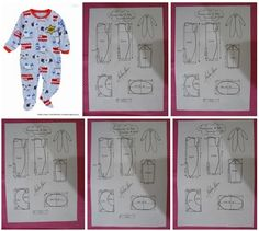 Moldes para hacer un mameluco para bebes Ideas de Manualidades Baby Clothes Patterns, Baby Patterns, Baby Clothes Shops, Clothing Patterns, Doll Clothes, Sewing Patterns, Sewing For Kids, Baby Sewing, Pattern Making Books