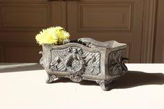 Stunning. French Antique Planter. Cast Iron Medicis. Flower Planter. Garden Decor Stand. Patio Vase.  $270