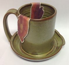 Microwave Bacon Cooker, handmade pottery, $30.00
