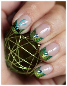 Nail Art: Blue Flower by ginkgografix.deviantart.com on @deviantART