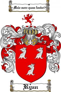 Ryan Coat of Arms Ryan Family Crest Instant Download - for sale, $7.99 at Scubbly