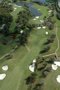 Aerial view of a sampling of The Palm Beaches Golf Courses