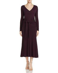 Donna Karan Tie-Waist Midi Dress | Bloomingdale's