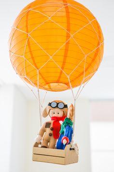 Decoração aérea! Embarque junto com o Príncipe e o Aviador!