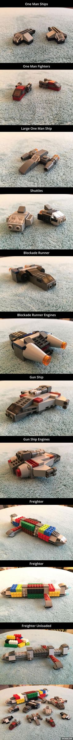 of the best custom LEGO Star Wars creations featured on The Brothers Brick Lego Spaceship, Lego Robot, Lego Mecha, Lego Star Wars, Nave Lego, Deco Lego, Lego Machines, Amazing Lego Creations, Lego Ship