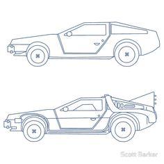 Back to the future delorean blueprints