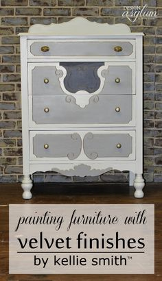 Painting furniture with Velvet Finishes is so easy! NO sanding, NO waxing, NO brushstrokes! You are going to love it!