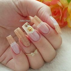 2019 10 Gorgeous Nail Designs To Try - Naija's Daily Best Nail Art Designs, Beautiful Nail Designs, Perfect Nails, Gorgeous Nails, Diy Acrylic Nails, Nagellack Trends, Coffin Nails Long, Ballerina Nails, Manicure E Pedicure