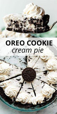 Oreo Cream Pies, Cookies And Cream Cheesecake, Cookies And Cream Pie Recipe, Oreo Cheesecake, Heavy Cream Recipes, Cream Cheese Recipes, Cream Cheese Pie, Fun Desserts, Delicious Desserts