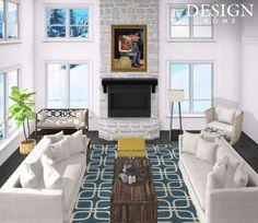 Mercer, Wisconsin-Rustic, modern living room