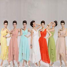 Voglee-Womens Chiffon Solid Party Ball BOHO Sleeveless Beach Long Dress Was: $17.92 Now: $17.48