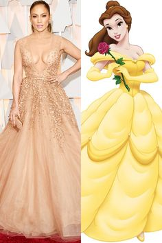 Jennifer Lopez' Elie Saab dress was worthy of Belle from Beauty and the Beast.   - HarpersBAZAAR.com