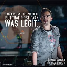 May I point out that a heck of a lot more people died in Jurassic World in the end Jurassic Movies, Jurassic Park Series, Jurassic Park World, Jurassic Park Quotes, Tv Quotes, Movie Quotes, Girl Quotes, Movies Showing, Movies And Tv Shows