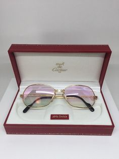 ac7494cb3cd02 Vintage CARTIER PANTHERE PM ROSE GOLD Limited SERIES SUNGLASSES 1980s   Vintagesunglasses   Sunglasses  Cartier  Panthere  Afflink
