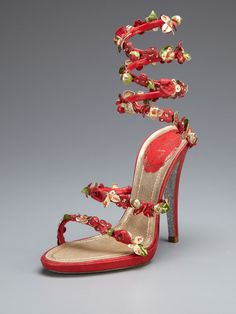 Floral Spiral Sandal by Rene Caovilla on Gilt.com