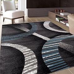 """Modern Contemporary Soft Blue/Gray Area Rug 3'3"""" x 5'3"""" Rugshop http://www.amazon.com/dp/B00YV45G1Y/ref=cm_sw_r_pi_dp_.wYRvb0YQK3PG"""