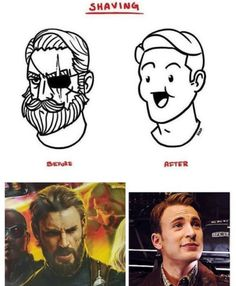 I prefer my man with a beard Only real men can grow facial hair! <<< stop saying something like that you fucking racist retarded white skined people! I hate someone like you! <<< well obviously women can't grow facial hair dipshit Avengers Memes, Marvel Jokes, Marvel Funny, Marvel Dc Comics, Marvel Avengers, Marvel Universe, Dc Memes, Loki Thor, The Villain
