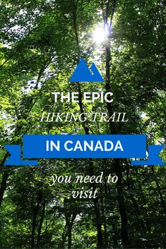 Canada's epic hiking trail you've probably never heard of! Hint: it's in Ontario! http://justinpluslauren.com/canadas-epic-hiking-trail-youve-probably-never-heard-of/