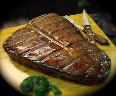 15 Desserts In Disguise - T-Bone Steak Cake